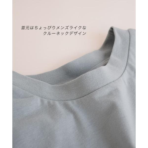 Tシャツワンピース 春 夏 ポケット Tシャツ ワンピース レディース カットソー チュニック 半袖 五分袖 5分袖 膝丈 ひざ丈 綿混 コットンチュニックワンピース e-zakkamania 11
