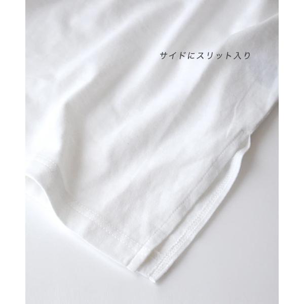 Tシャツワンピース 春 夏 ポケット Tシャツ ワンピース レディース カットソー チュニック 半袖 五分袖 5分袖 膝丈 ひざ丈 綿混 コットンチュニックワンピース e-zakkamania 10
