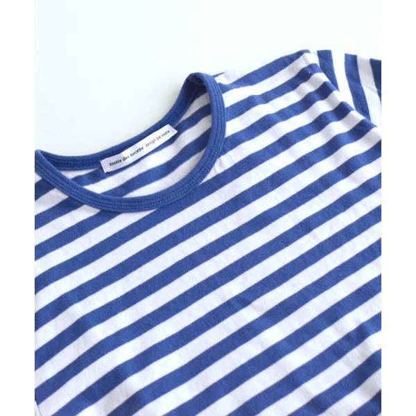 カットソー 長袖 レディース 綿100% 無地 ボーダー ロンT トップス Tシャツ コットン 大きいサイズ ゆったり 丸首 夏|e-zakkamania|07