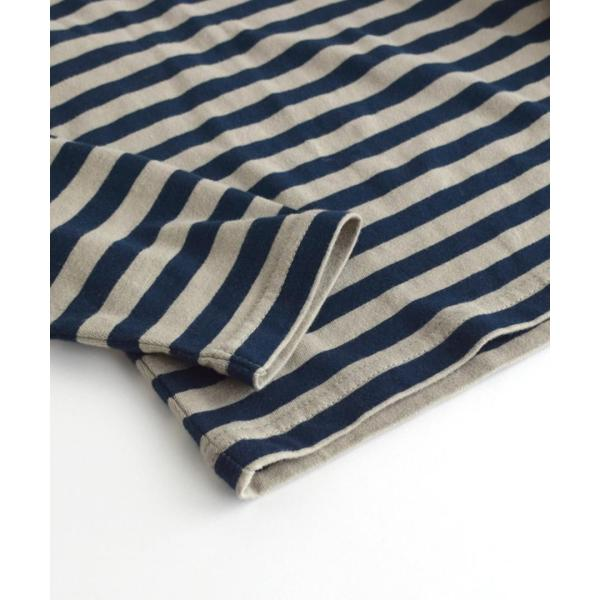 カットソー 長袖 レディース 綿100% 無地 ボーダー ロンT トップス Tシャツ コットン 大きいサイズ ゆったり 丸首 夏|e-zakkamania|08