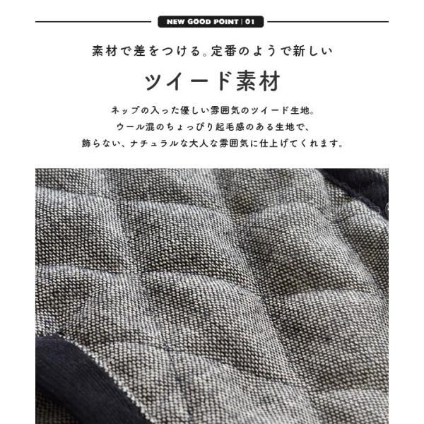 コート フード付 アウター 中綿入り レディース 大きいサイズ ボア ツイード もこもこ あったか 長袖 カジュアル ユニオン|e-zakkamania|05