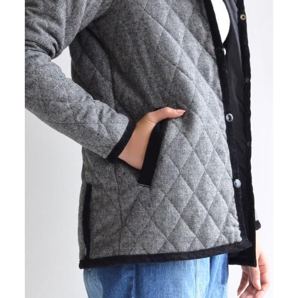コート フード付 アウター 中綿入り レディース 大きいサイズ ボア ツイード もこもこ あったか 長袖 カジュアル ユニオン|e-zakkamania|10
