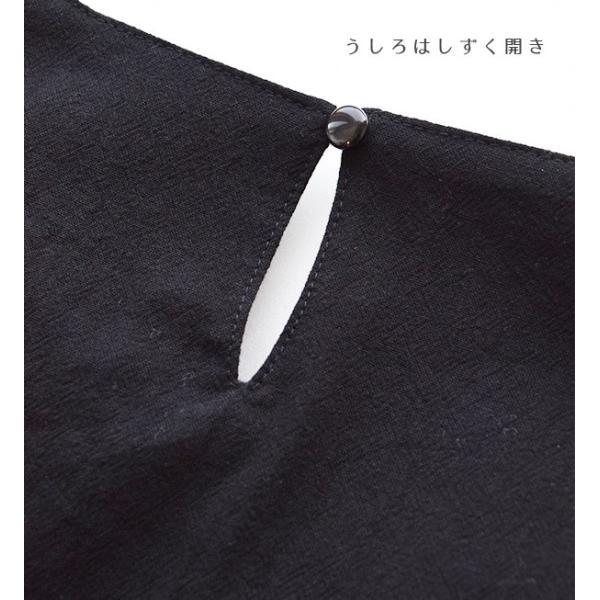 ワンピース 体型カバー 綿100% 半袖 ゆったり 大きいサイズ 膝下丈 レディース トップス 膝丈 ひざ丈 コットン チェック柄|e-zakkamania|13