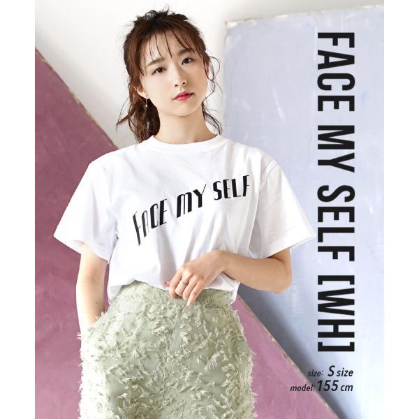 Tシャツ ロゴT 綿100% レディース 半袖 秋 冬 秋物 カットソー プリント tシャツ 通年 シャツ カジュアル スタンダード ロゴ|e-zakkamania|17
