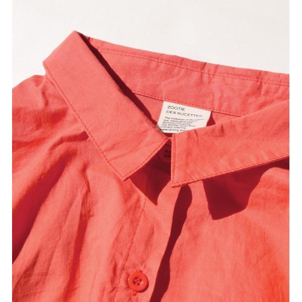 ワンピース ロング丈 膝下丈 体型カバー デザイン袖 シャツワンピース レディース ロングシャツ ゆったり ひざ下丈 無地 夏 e-zakkamania 08