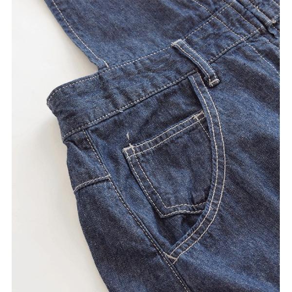 サロペット デニム オーバーオール レディース 夏 ロング スカート 大きいサイズ ジャンパースカート マキシ 膝下 綿100% ボトムス|e-zakkamania|13