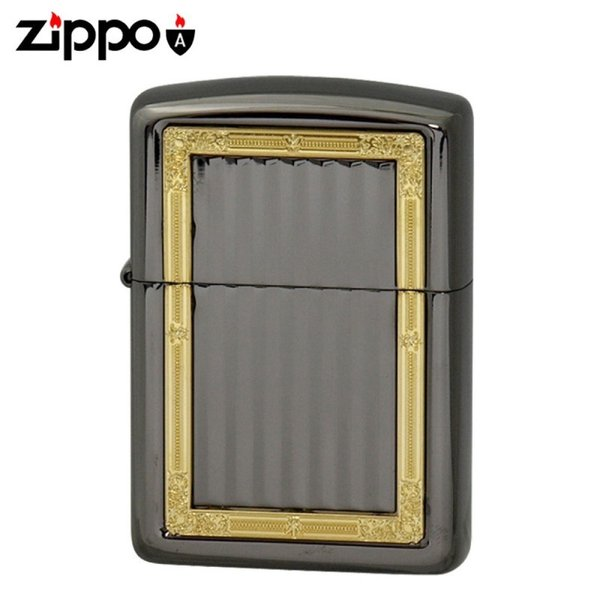zippo ジッポー アーマー 彫刻 両面加工 ライター GPフレーム A ネオブラック ギフト プレゼント 贈り物  喫煙具