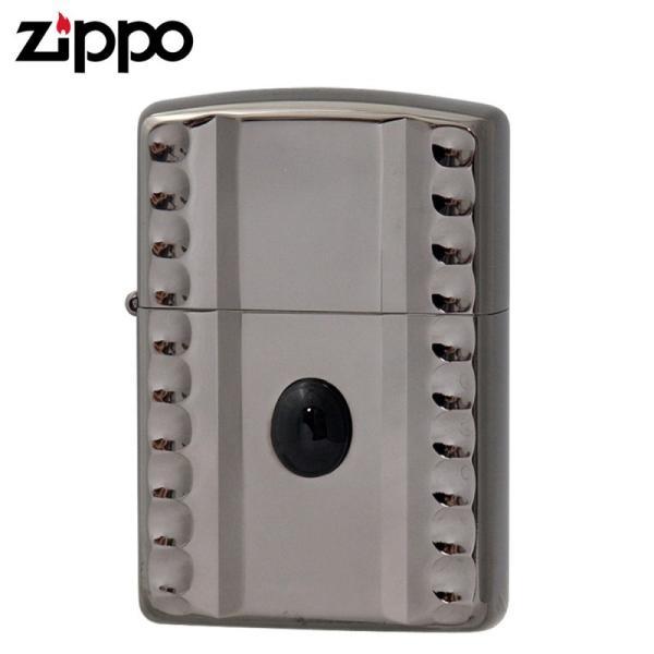 Zippo ジッポー NC両面彫刻 表面天然石貼り NC-Onyx NB  ギフト プレゼント 贈り物  喫煙具
