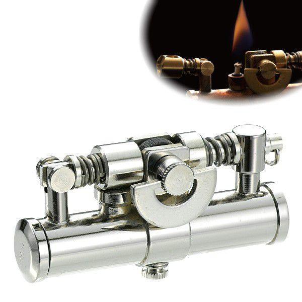 オイルライター スチームパンク かっこいい おしゃれ ミリタリー ビンテージ アンティーク 男性 喫煙具 デューク4 DUKE  ニッケルミガキ ギフト プレゼント 贈り