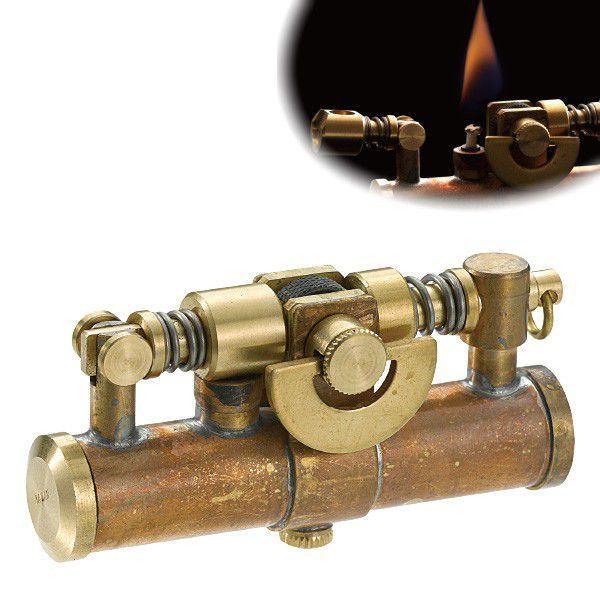 オイルライター スチームパンク かっこいい おしゃれ ミリタリー ビンテージ アンティーク 男性 喫煙具 デューク4 DUKE  ワイルドブラス 真鍮 ギフト プレゼント