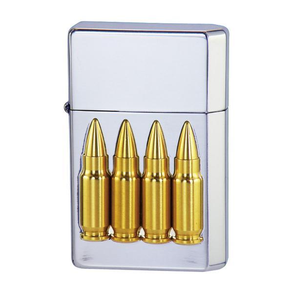 ライター オイルライター おしゃれ 日本製 GEAR TOP バレットボーイ 4バレッツ シルバーイブシ 銃弾 ギフト プレゼント 贈り物