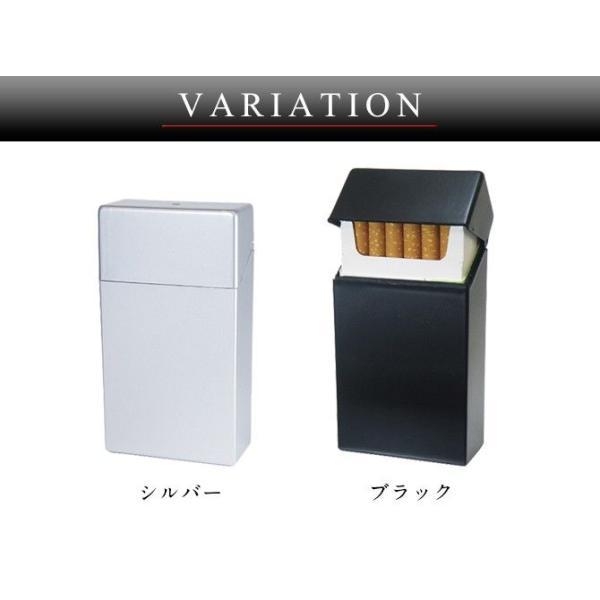 シガレットケース たばこケース 煙草ケース シガレットハードケースロング シルバー ギフト プレゼント 贈り物|e-zakkaya|03