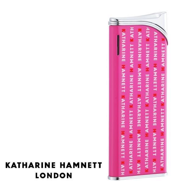 キャサリンハムネット ガスライター 電子ライター ロンドン 電子ライター ラッカーピンク プリント KH08-0008 ギフト プレゼント 贈り物  ブランド かわいい ス