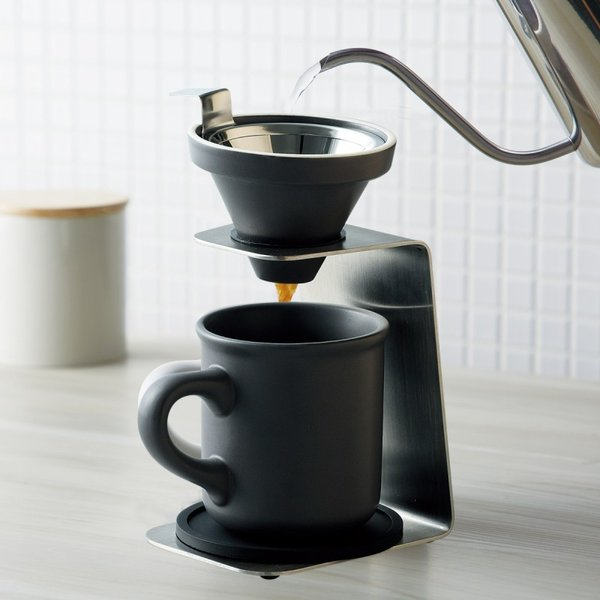 コーヒードリッパー セット コーヒーメーカー ハンドドリップ ブリューコーヒー 一人用ドリッパーセット グレー 51642 コーヒーグッズ特集 ギフト プレゼント 贈