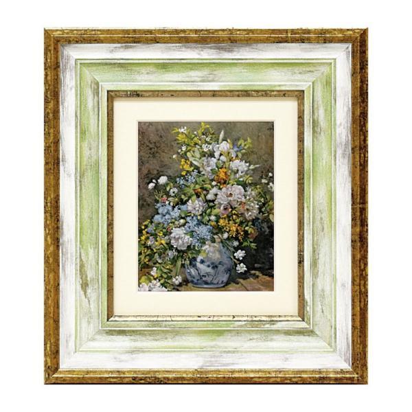 アートパネル アートフレーム ルノワール 大きな花びん ピエール オーギュスト ルノワール Renoir 名画 有名 絵画 絵 壁掛けミュージアムシリーズ インテリアパネル ウォールパネル 額付き フレーム付き 世界の名画 有名 美術館