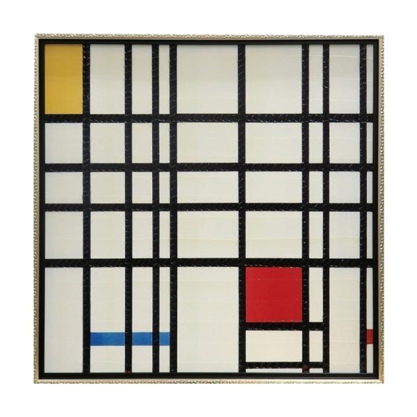 絵画 壁掛け 抽象画 アート アートパネル ピエト モンドリアン「コンポジション イエロー、ブルー&レッド」 PM-20021
