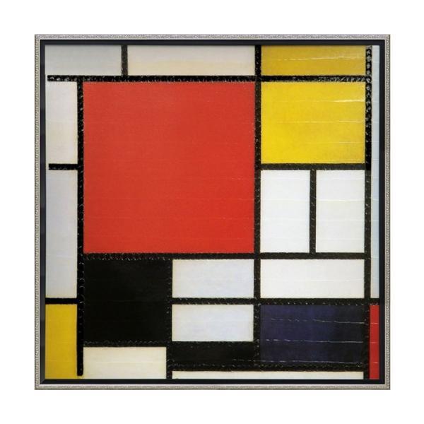 絵画 壁掛け 抽象画 アート アートパネル ピエト モンドリアン「コンポジション ライン&カラー」 PM-20022