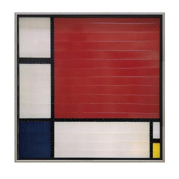 絵画 壁掛け 抽象画 アート アートパネル ピエト モンドリアン「コンポジション レッド、ブルー&イエロー」 PM-20024