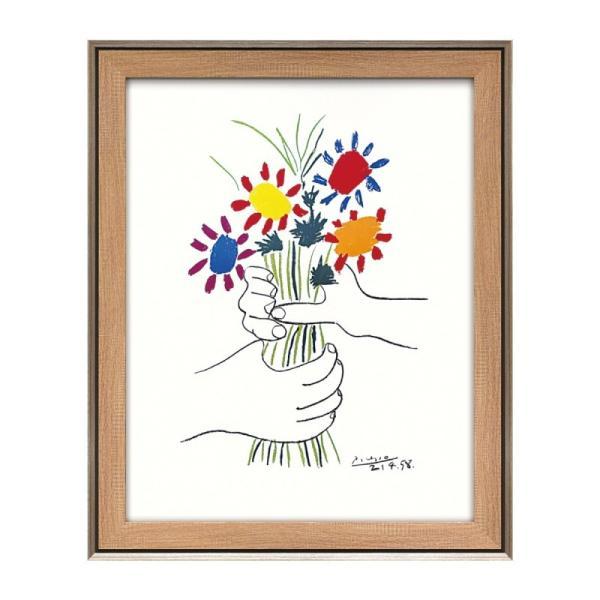 アート 壁掛け インテリア 絵画 ピカソ 額入り アートパネル パブロ ピカソ 花束を持つ手 PP-15002