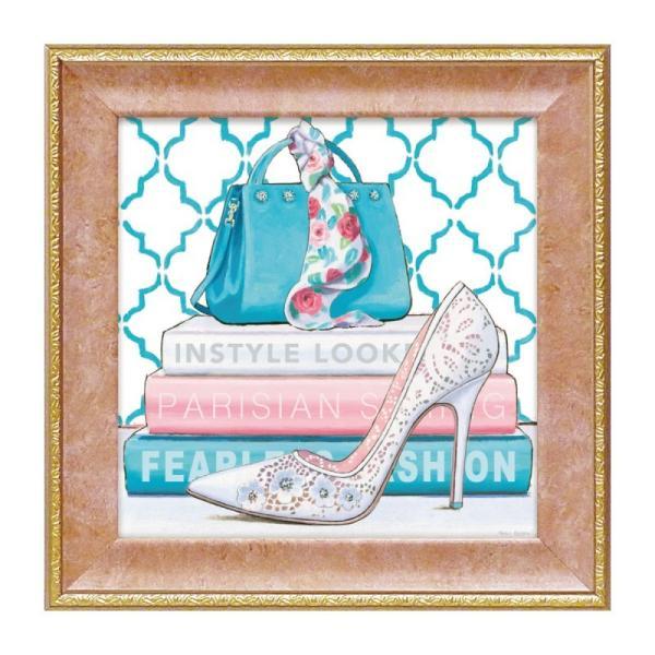 アートパネル ミニアート ウォールパネル インテリアパネル アート 壁掛け インテリア ファッション  フレンチ風 マルコファビアノ「フィアレス3」 ハイヒール 靴 アートフレーム