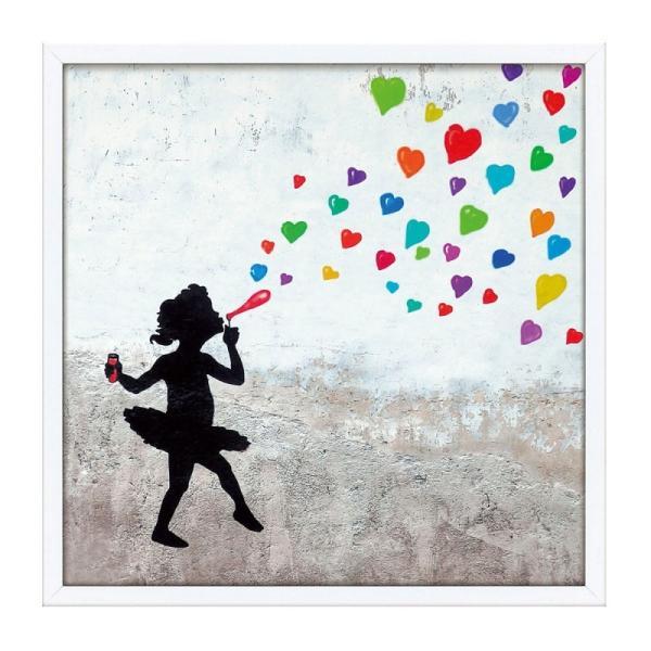 アートパネル アートフレーム アート インテリア モダン 額入り 額縁 壁 壁掛け おしゃれ ストリートアート ストリート 絵画 絵 イラスト 女の子 少女 リビング 玄関 寝室 子供部屋 ダイニング ベッドルーム 廊下 部屋 マスターファンク コレクション ラブ バブル