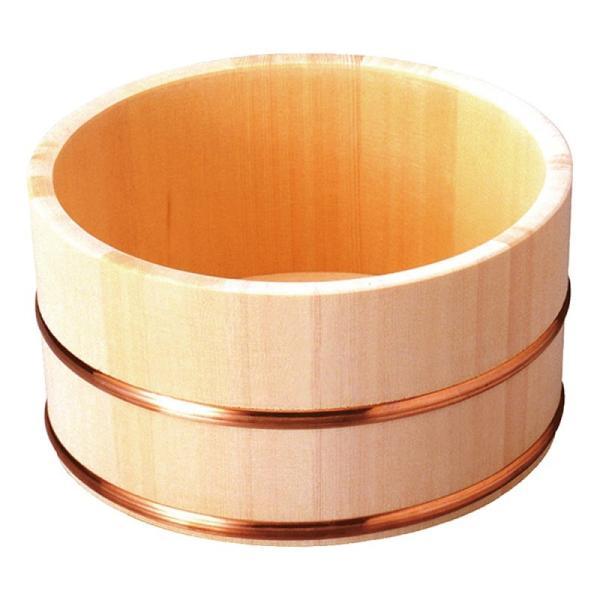 湯桶 風呂桶 木製 ひのき湯桶 銅タガ 丸型 82463  風呂おけ 湯おけ 木