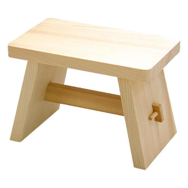 湯桶 風呂桶 木製 天然木風呂椅子 中 83829  風呂おけ 湯おけ 木