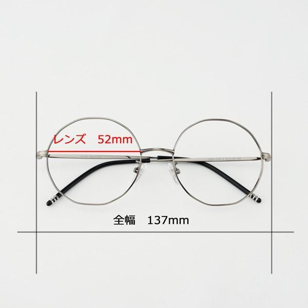 多角形 おしゃれな12角形 度付きメガネ ダテめがね|e-zone|14