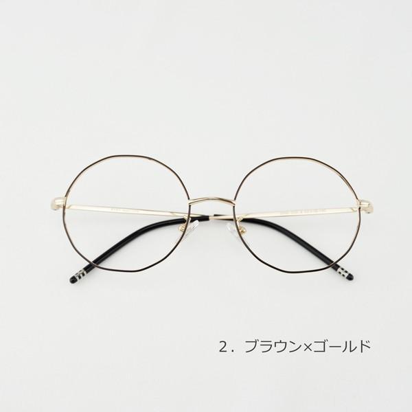 多角形 おしゃれな12角形 度付きメガネ ダテめがね|e-zone|03