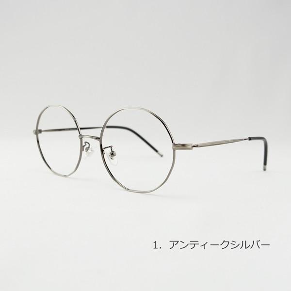 多角形 おしゃれな12角形 度付きメガネ ダテめがね|e-zone|06