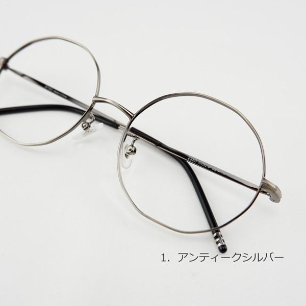 多角形 おしゃれな12角形 度付きメガネ ダテめがね|e-zone|08
