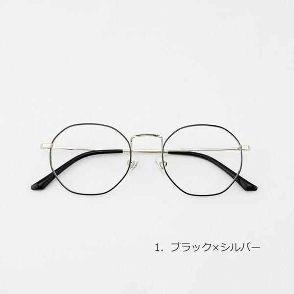多角形 おしゃれな八角形 度付きメガネ ダテめがね|e-zone|02