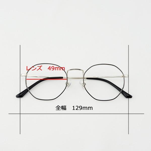 多角形 おしゃれな八角形 度付きメガネ ダテめがね|e-zone|15