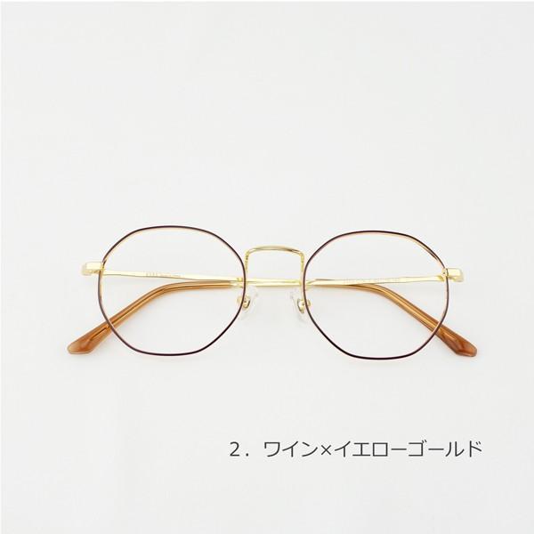 多角形 おしゃれな八角形 度付きメガネ ダテめがね|e-zone|03