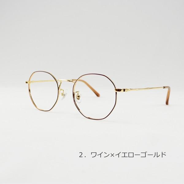 多角形 おしゃれな八角形 度付きメガネ ダテめがね|e-zone|07