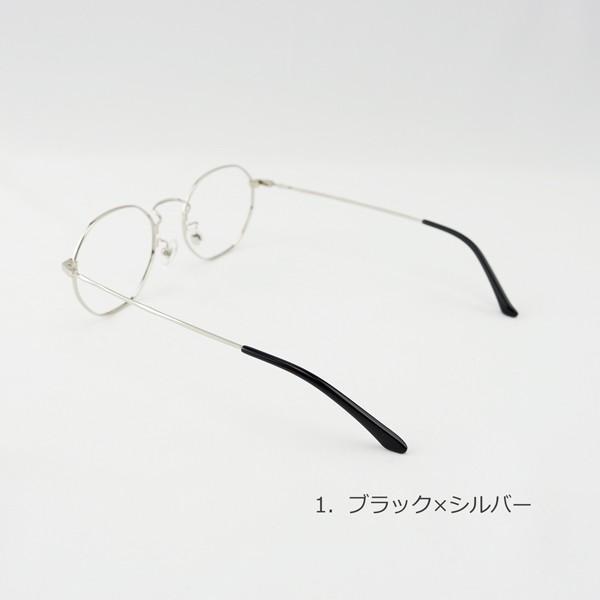 多角形 おしゃれな八角形 度付きメガネ ダテめがね|e-zone|08