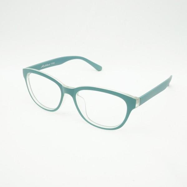 珍しい 個性的なフレーム 度付きメガネ ダテめがね 清々しい山葵(わさび)色 ユニセックス e-zone 03