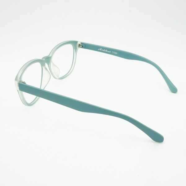 珍しい 個性的なフレーム 度付きメガネ ダテめがね 清々しい山葵(わさび)色 ユニセックス e-zone 04