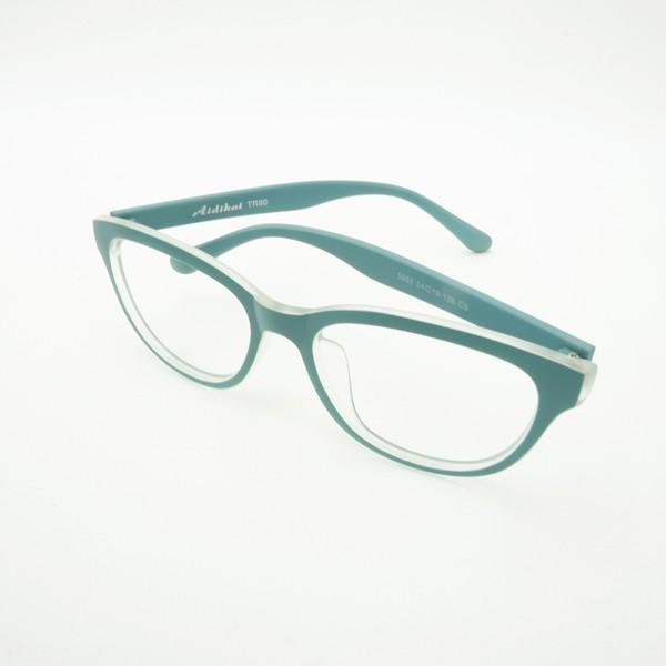 珍しい 個性的なフレーム 度付きメガネ ダテめがね 清々しい山葵(わさび)色 ユニセックス e-zone 05