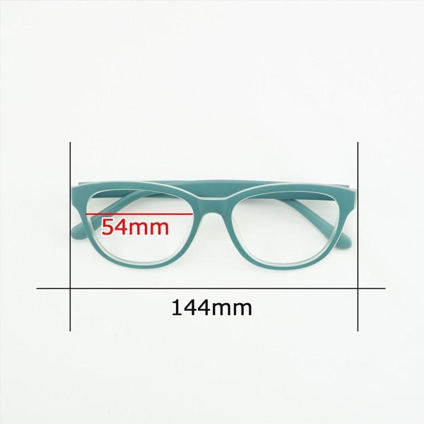 珍しい 個性的なフレーム 度付きメガネ ダテめがね 清々しい山葵(わさび)色 ユニセックス e-zone 06
