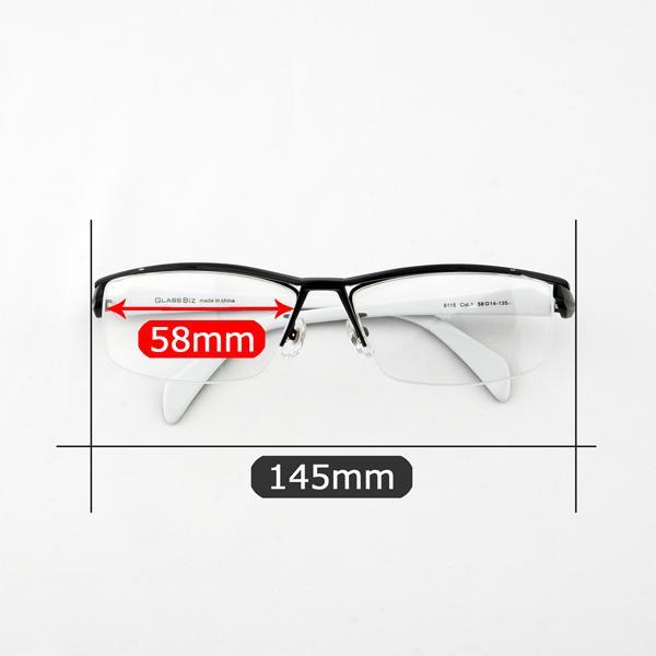 白いフレーム おしゃれ ホワイト メンズ 度付きメガネ ダテめがね ブルーライトカット|e-zone|12