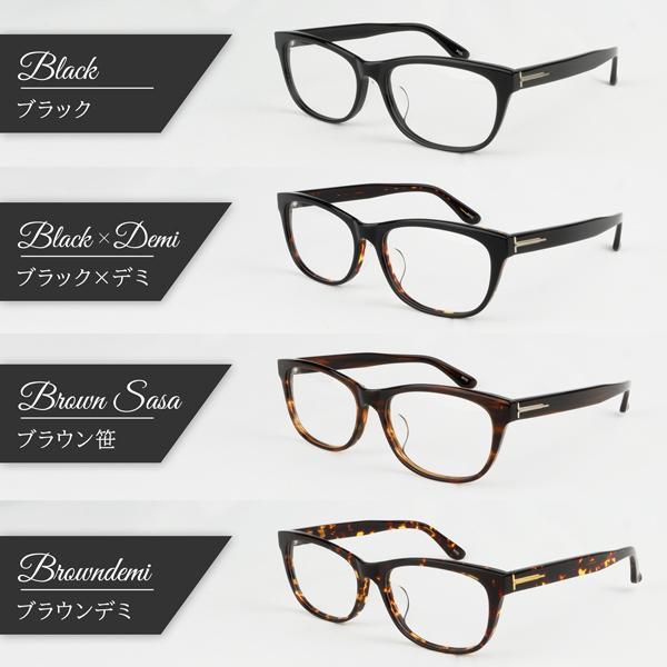大きいフレーム 度付きメガネ ダテめがね ウェリントン メンズ 大きい顔向き|e-zone|09