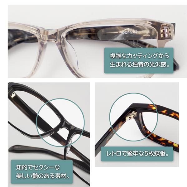 大きいフレーム 60サイズ 大きめサイズのメンズスクエア 度付きメガネ ダテめがね 大きい顔向き z8434|e-zone|09