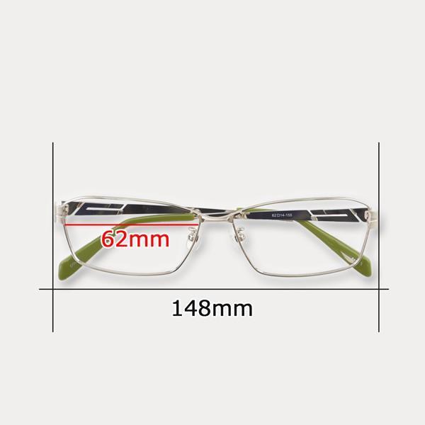 大きいフレーム 度付きメガネ ダテめがね メンズ ブルーライトカット 大きな顔向き e-zone 12