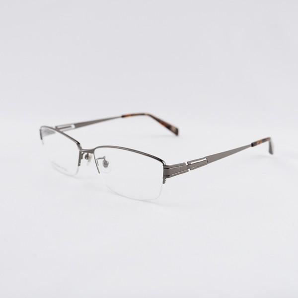 大きいフレーム 度付きメガネ ダテめがね メタル メンズ ブルーライトカット 大きな顔向き|e-zone|17