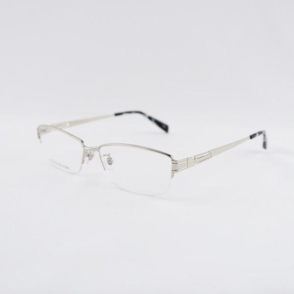 大きいフレーム 度付きメガネ ダテめがね メタル メンズ ブルーライトカット 大きな顔向き|e-zone|18