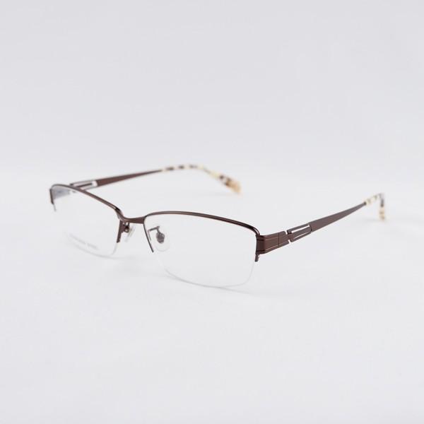 大きいフレーム 度付きメガネ ダテめがね メタル メンズ ブルーライトカット 大きな顔向き|e-zone|19