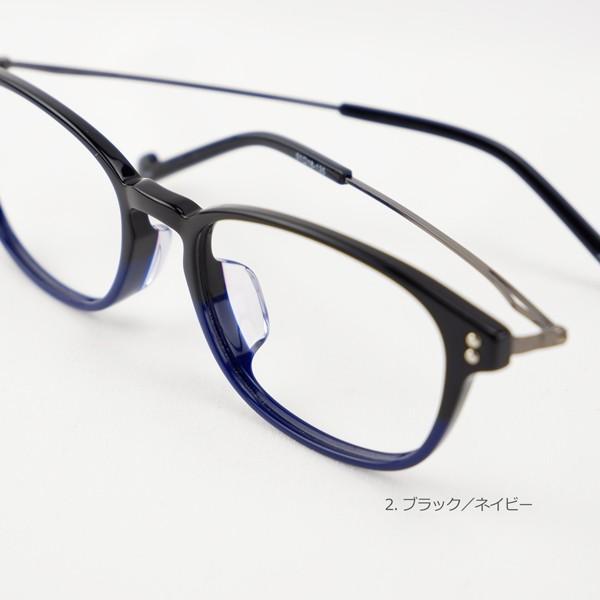 おしゃれ 2色のバイカラー グラデーション メンズ 度付きメガネ ダテめがね|e-zone|11