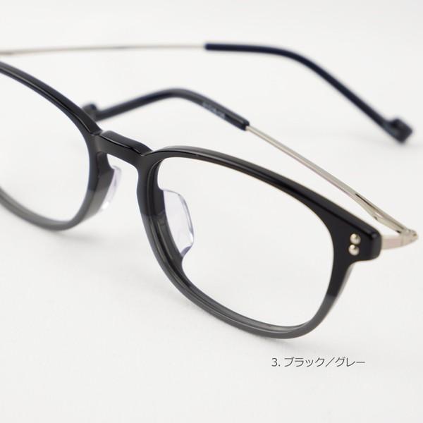 おしゃれ 2色のバイカラー グラデーション メンズ 度付きメガネ ダテめがね|e-zone|12