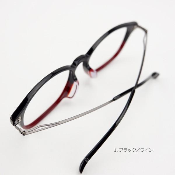 おしゃれ 2色のバイカラー グラデーション メンズ 度付きメガネ ダテめがね|e-zone|13